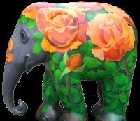 An elephant scuplture